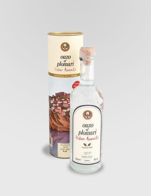 """Спиртной напиток """"Узо Пломари, Исидорос Арванитис"""" 0,2л в тубе"""