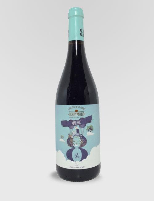 """Вино """"Очьо и Медио Мальбек"""" красное сухое 0,75л."""