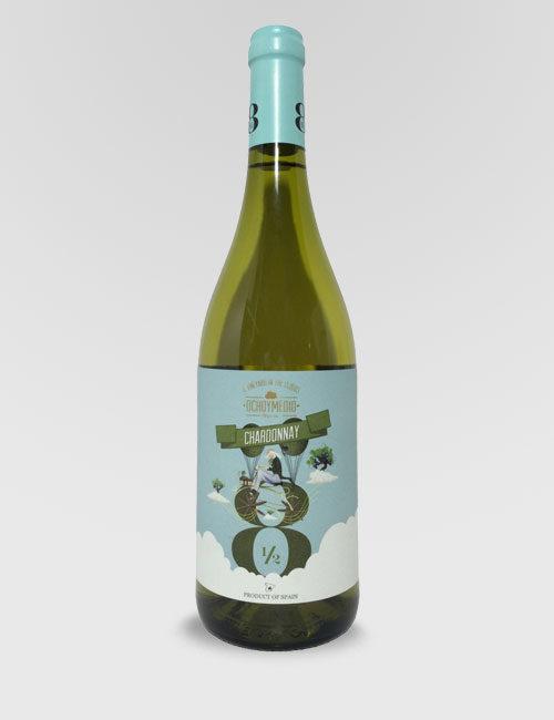 """Вино """"Очьо и Медио Шардоне"""" белое сухое 0,75л."""