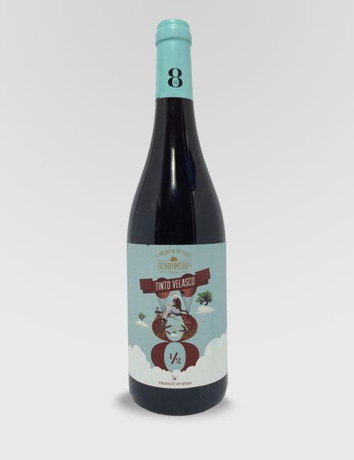 """Вино """"Очьо и Медио Темпранильо"""" красное сухое 0,75л."""
