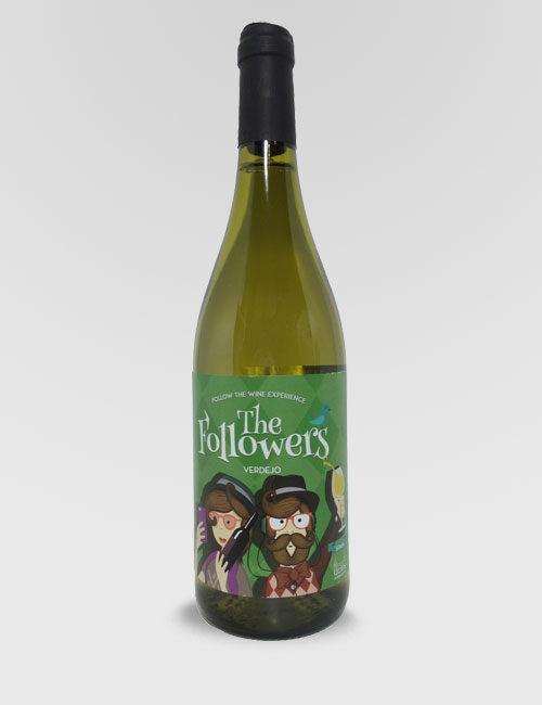 """Вино """"Фоловерс Вердехо"""" белое сухое 0,75л."""