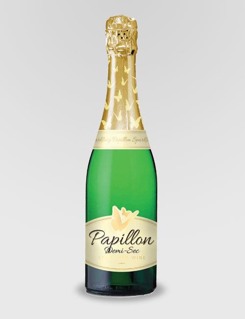 """Вино игристое """"Папилон Деми-Сек"""" белое полусладкое 0,75 л Западный кейп"""