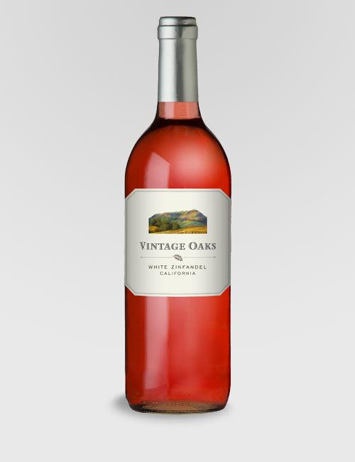 """Вино """"Оак Виньярдс Уайт Зинфандель"""" розовое полусладкое 0,75л."""