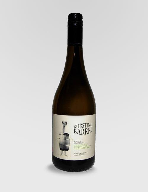 """Вино """"Лопнувшая бочка"""" Семийон Шардоне белое сухое 0,75л."""