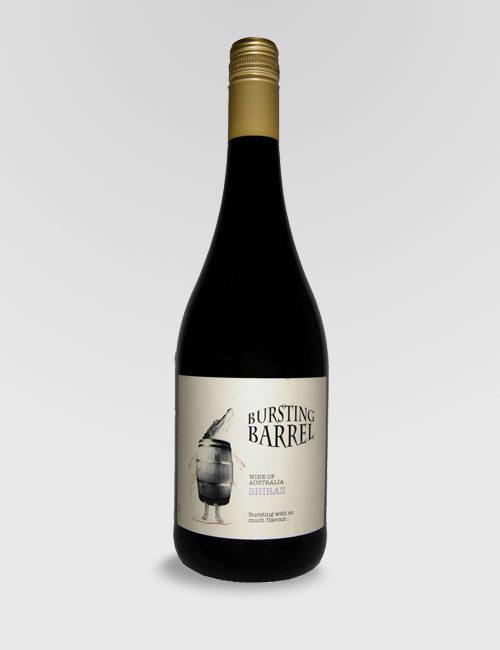 """Вино """"Лопнувшая бочка"""" Шираз красное полусухое 0,75л."""