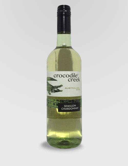 "Вино ""Крокодайл Крик"" Семийон Шардоне белое полусухое 0,75л."